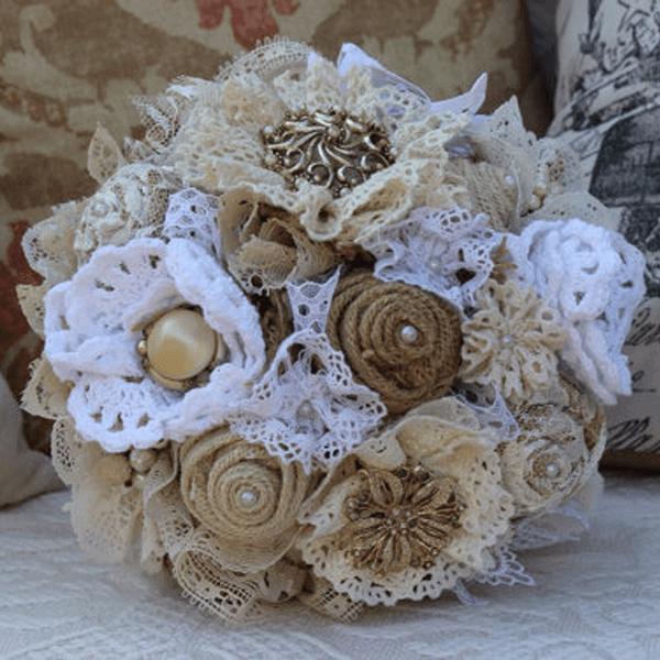 Buquê de noiva rústico glamour