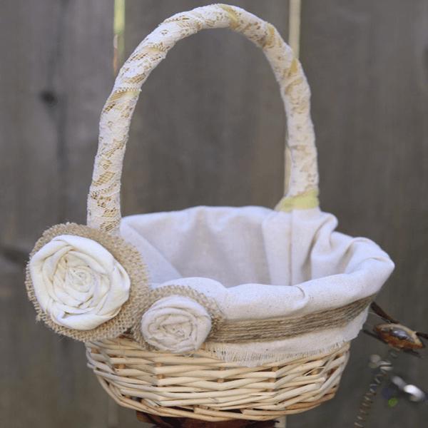 cesta para florista rústica