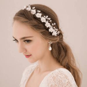 headband aramada de mini pérolas